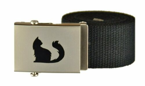 Stoffgürtel mit Logo 100-150 cm Canvas Belt schiebe Schnalle 17-SZN-SMAK