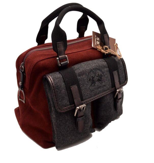 Hand Bag Shoulder Strap la martina Polo Woman Leather Jaramillo Burgundy