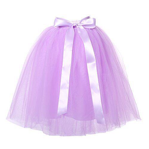 Reversable Girls Skirt Tutu Dance Dress 5-Layer Fluffy w//Ribbon Zcaynger Easter