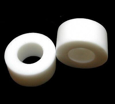 "10 Black Plastic Spacers LDPE 1.00/""OD x 1//2/""ID x 1.00/""Long"