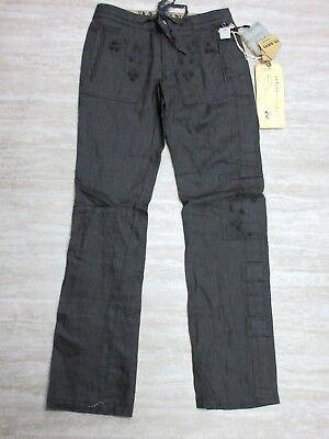 NEW Da-Nang Women/'s Capri Pants Black Belt  Pockets BLACK CLN5384 SMALL S