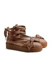 7fbd566d3d1961 Puma Fenty By Rihanna Womens Bow Creeper Sandal Natural Oatmeal ...