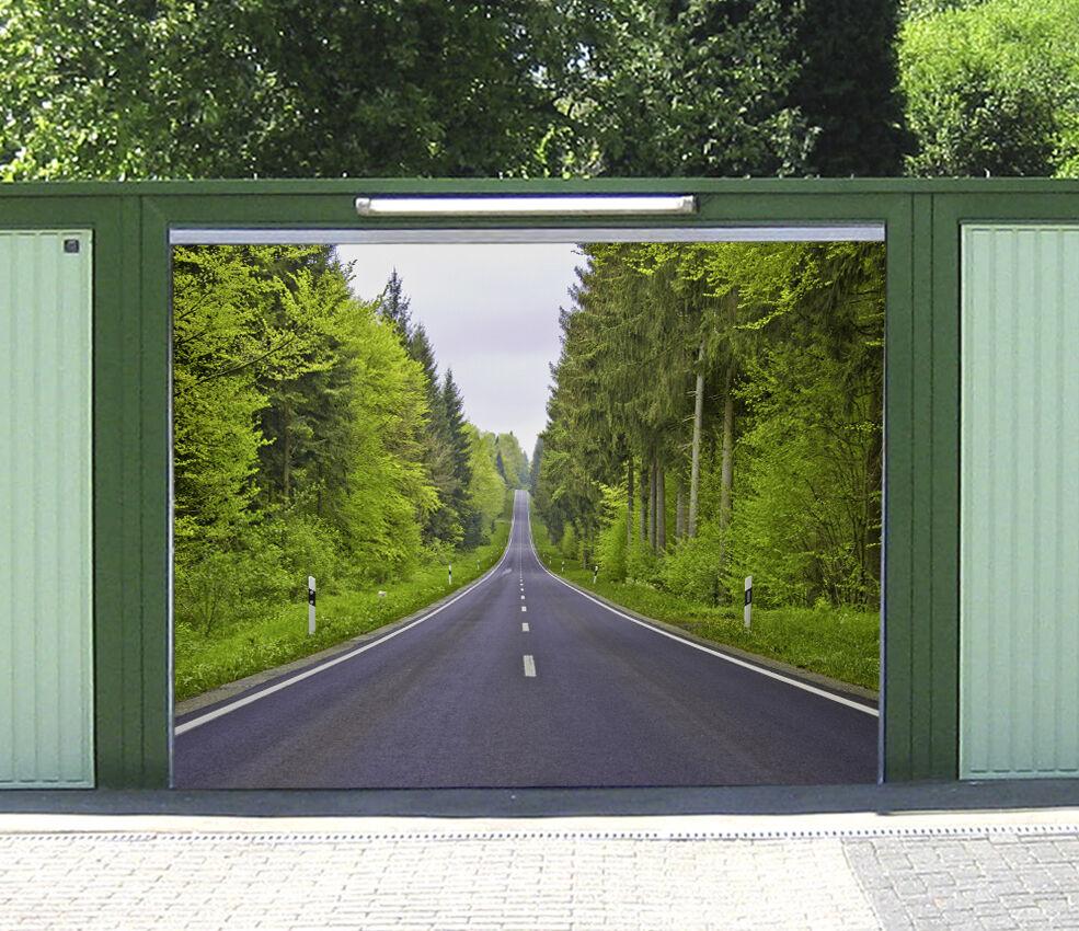 3D Tree Road 770 Garage Door Murals Wall Print Decal Wall AJ WALLPAPER AU Carly