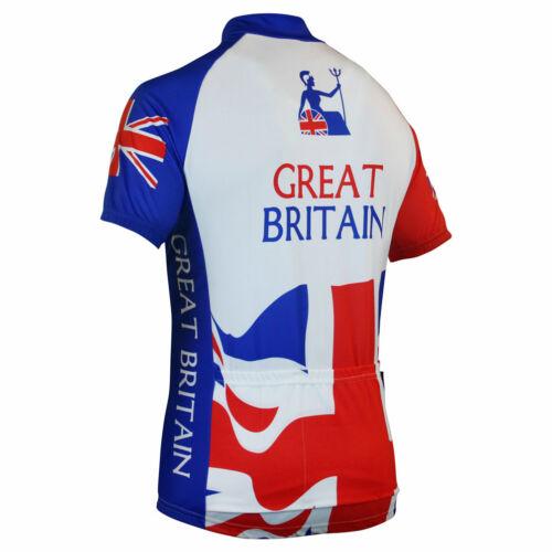 Impsport Rule Britannia Union Jack Britain Cycling Jersey Mens /& Ladies Sizes