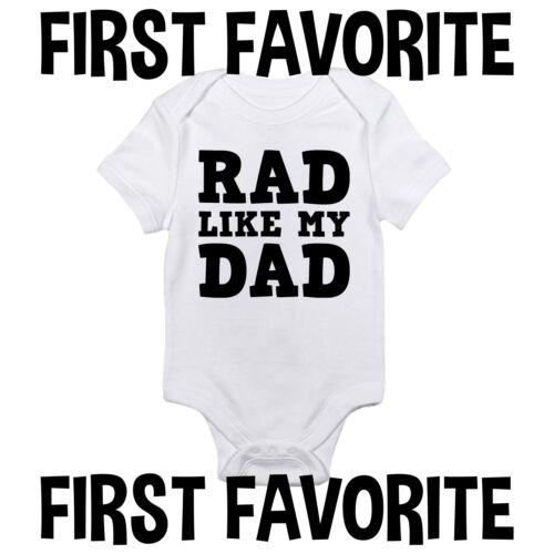 Rad Like My Dad Baby Onesie Shirt Daddy Father Shower Gift Infant Newborn Gerber
