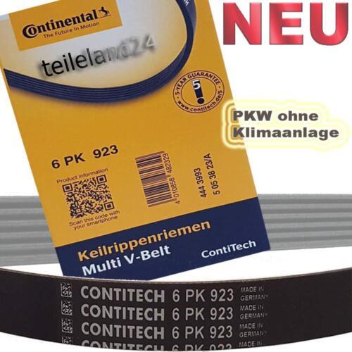NEU CONTINENTAL 6PK923  Keilrippenriemen VW POLO 1.7 1.9 ohne Klima 6PK923