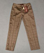 B2 NEW MAX MARA STUDIO Hardy Nude Small Flower Trousers Pants Sz US 2 IT 36 $295