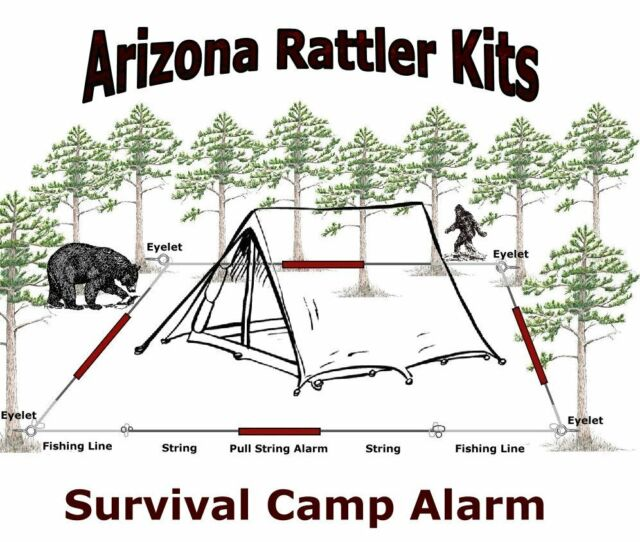 "Survival Camp Perimeter Alarm ""Early Warning"" survival hunting fishing camping"
