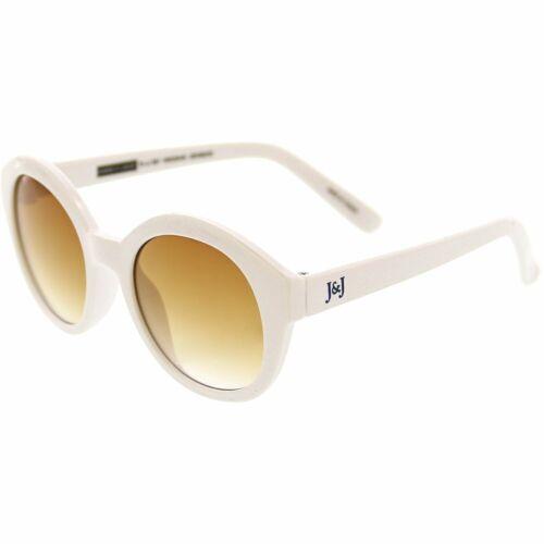 Janie And Jack Shimmer Round Sunglasses 200386294 White