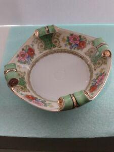 Vintage-Noritake-Japan-Curled-Edge-serving-Bowl-Rose-amp-Carnation-Design