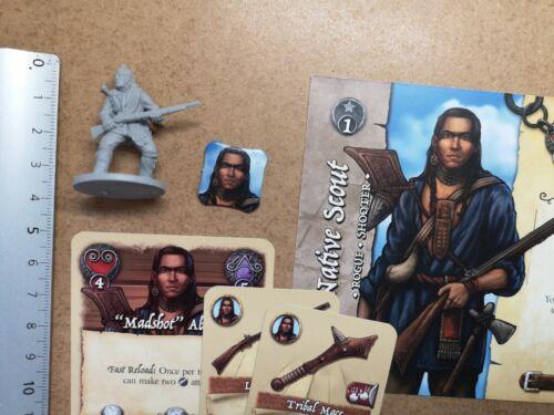 NATIVE SCOUT MADSHOT ABIAKA MINIATURE+CARDS//SKULL TALES PIRATE GAME ECLIPSE//G213