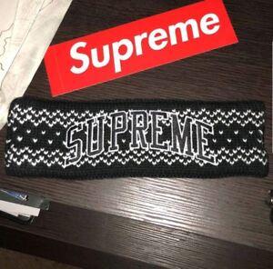 fantastyczne oszczędności niezawodna jakość całkowicie stylowy Details about Supreme New Era Ark Logo Headband (FW17) BLACK