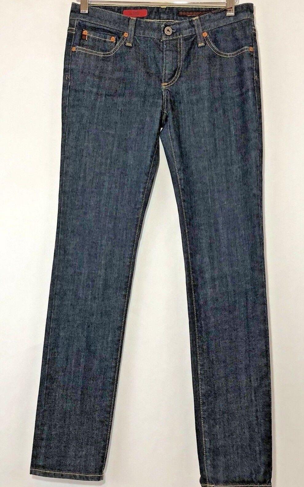 AG Adriano goldschmied Womens Size 27R Jeans The Stilt Cigarette Leg Dark Wash