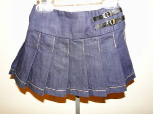 New-The-Children-039-s-Place-Blue-Denim-Pleated-School-Girl-Skort-Skirt-6-9-Months