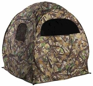 """Portable Camo Pop-Up Ground Hunting Blind with Backpack 60""""x60""""x65""""! Deer Turkey"""