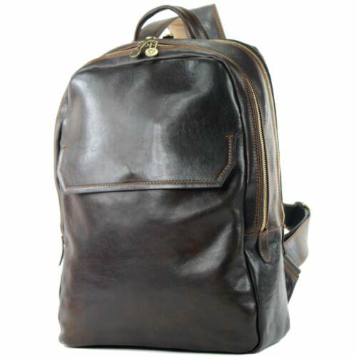 Ital De Business Leder laptop Herren Tasche Rucksack Modamoda Akten A012 5dqv5E