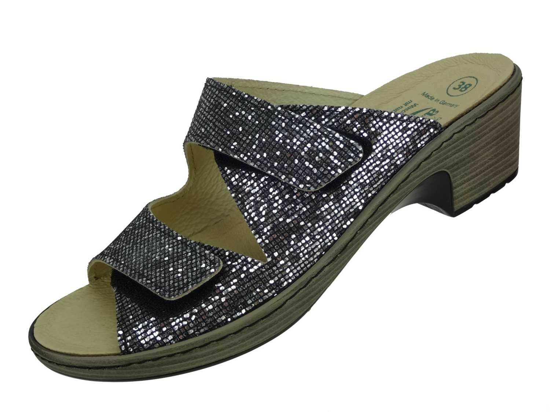 Algemare señora cuero sandalia es Inox glitter algas corcho cambio cambio corcho plantilla 6118 _ 9912 53878c