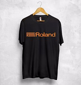 Roland-Logo-T-Shirt-Music-Systems-Audio-Audiophile-Retro-Synthesiser-Analogue