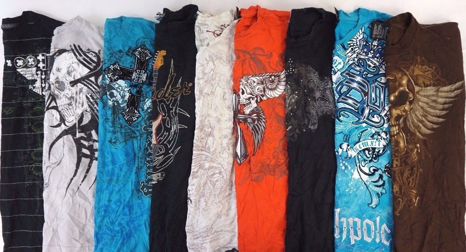 Mens Graphic Tees Lot of 10 Random Brand T-Shirts BEST DEAL COOLEST Shirts