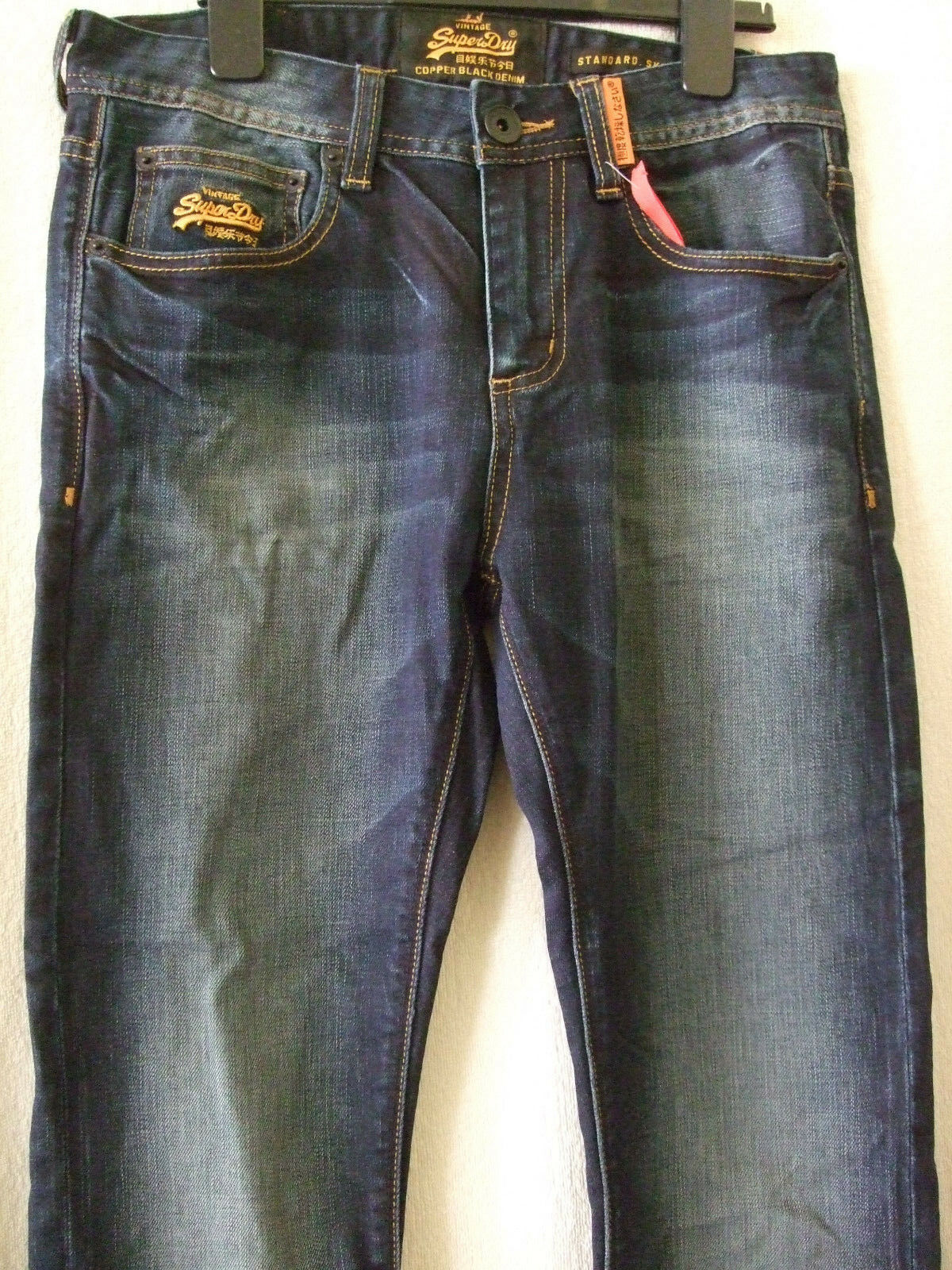 NEW  SUPERDRY 30  WAIST 32  LEG USED DARK blueE STANDARD SKINNY JEANS