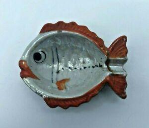 Vintage Japan Ceramic Ashtray Goldfish Fish Shape 3 inch AS3