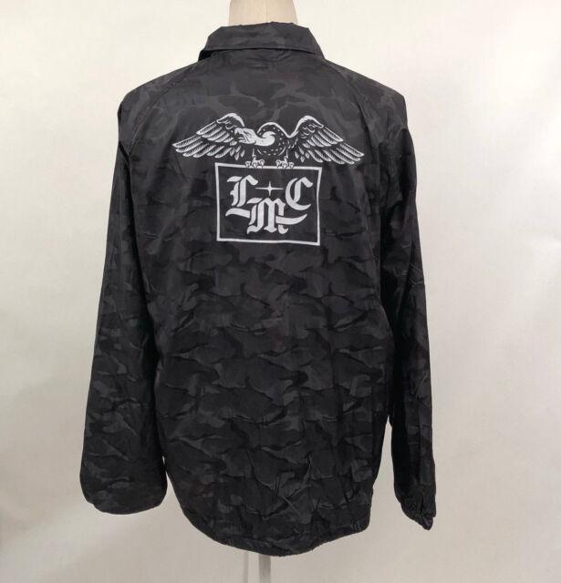 b560d7bae07c8 Loser Machine Men s Coach s Jacket Foothold Black Camo Size S for ...
