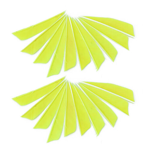 "20X//lot 3/"" Shield cut fletching arrow feathers turkey featherPTH"