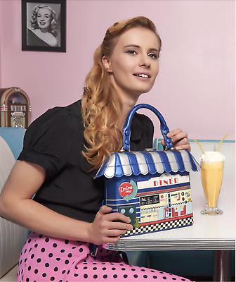 Vendula London cute women bag with HIGH TEA ROOMwomen youth shoulder bag fast