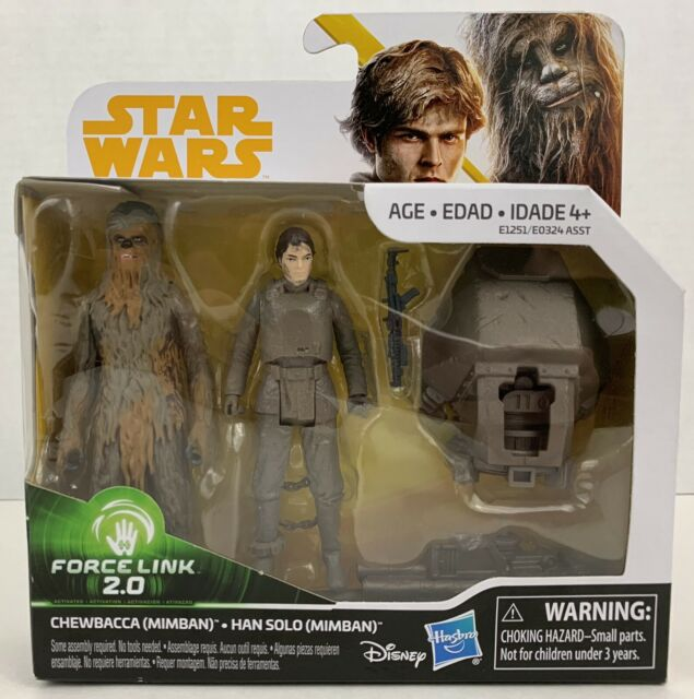 Star Wars Han Solo /& Chewbacca Mimban Force Link 2.0 Action Figure 2-Pack NIB