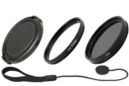 55 mm set objetivamente tapa tapa /& soporte /& filtro UV /& polarizador
