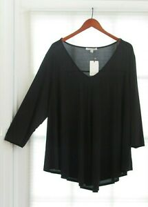 f4238afb910 GREEN ENVELOPE Los Angles Black V-Neck Swing Top Shirt Size 2X NWT ...