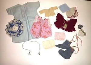 Vintage-Lot-Of-Doll-Clothes-amp-Shoes-Circa-1950-039-s-Era-Mixed-Ginny