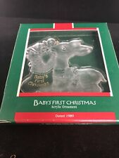 Hallmark Keepsake Ornament 1989 Baby/'s First Christmas #QX3815 Acrylic Deer