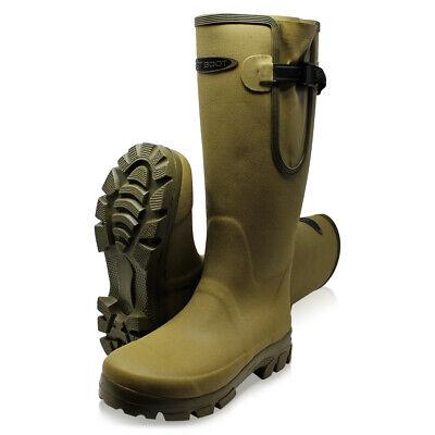 Dirt Boot ® Neoprene Foderato Guardiacaccia Wellington Muck Campo Stivali ® Gusset Cachi-mostra Il Titolo Originale Volume Grande