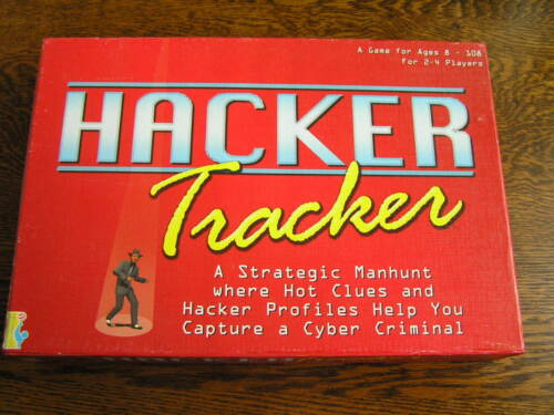 2002 International Playthings HACKER TRACKER Strategy Manhunt Game For Ages 8+
