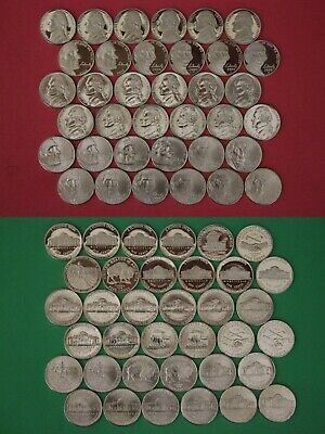 PROOF JEFFERSON NICKELS FROM 2000,2001,2002,2003,2004 AND 2005.FREE SHIPPING.