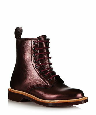 68509e6183c4 Dr. Martens Women`s 1460 Red Silver LIMITED EDITION MIE ALL SIZES Retail   450