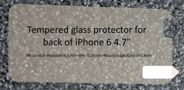 Premium Tempered Glass Film Screen Protector for iPhone 6 iPhone 6S Plus or Back
