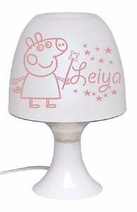 Lampe De Chevet Enfant Personnalise Peppa Pig Avec Prenom Sieur