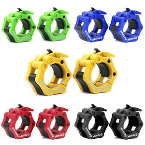 Pair-of-2-034-ABS-Olympic-Lock-Barbell-Clamp-Collars-CrossTrainning-Weight-Bar