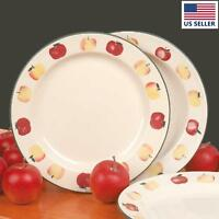 Stoneware Decorative Ceramic White Plate Country Apple 10 | Renovator's Supply on sale