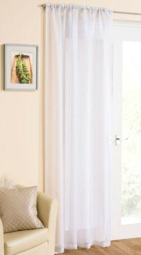 Glitter Sparkle Voile Rideau Panneau avec fil métallisé-slot//rod top en-tête
