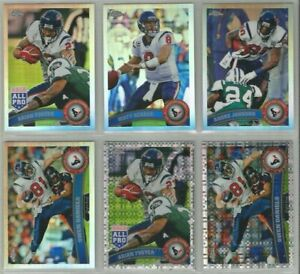Houston-Texans-6-card-2011-Topps-Chrome-REFRACTOR-XFRACTOR-lot-all-different