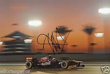 "Formula One F1 Driver Jaime Alguersuari Red Bull Hand Signed Photo 12x8"" O"