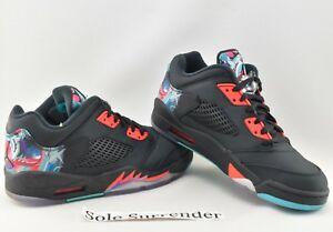 newest 2868a 32043 Details about Air Jordan 5 Retro Low CNY - SIZE 7 - 840475-060 Chinese New  Year China Black QS