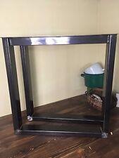 Dos patas de mesa industrial pesada (acero revestido de alimentación o sin montar) hecho a mano Hazlo tú mismo