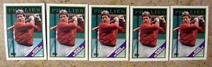 Mike Schmidt 1988 Topps #600 Philadelphia Phillies 5ct Card Lot
