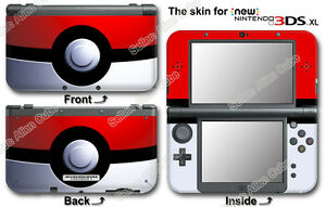 pokemon pokeball classic skin sticker cover decal 0 for new nintendo 3ds xl ebay. Black Bedroom Furniture Sets. Home Design Ideas