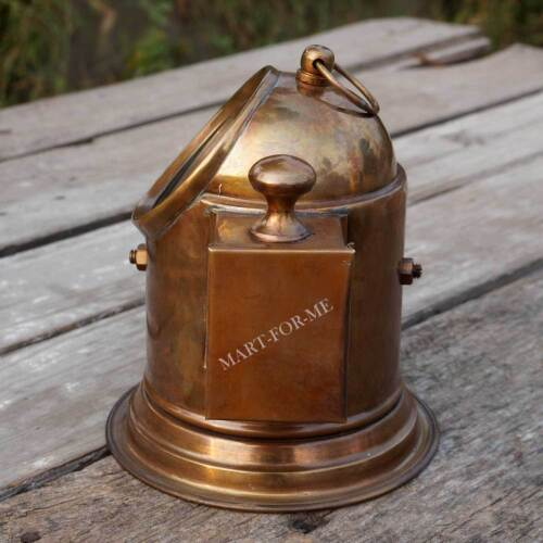 Vintage Binnacle Replica Brass Nautical Boat Compass Antique Gimble Compass