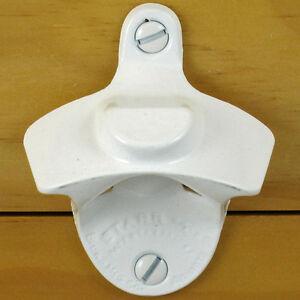 White Bottle Cap Mount Starr X Wall Mount Bottle Opener